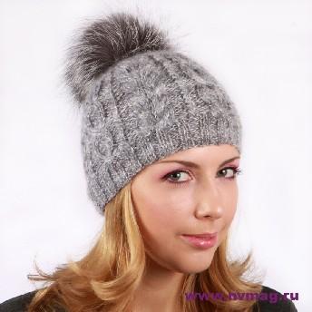 вязание шапки с помпоном - Шапки