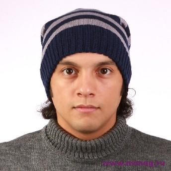 купить модные вязаные шапки мужские.